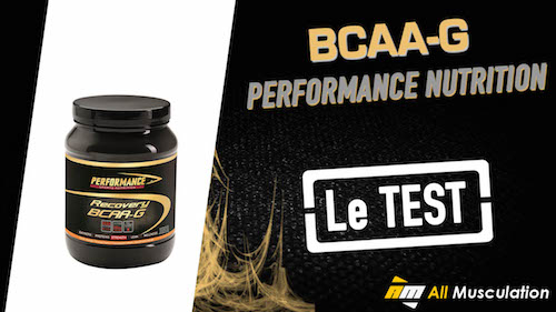 Test et avis : BCAA-G Recovery de Performance Nutrition