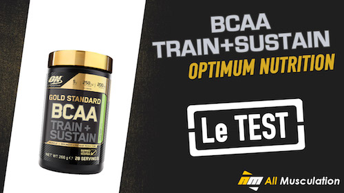 Test et avis : BCAA Gold Standard Train + Sustain de Optimum Nutrition